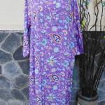 baju tidur santai batik longdress jumbo pias cantik daster lengan panjang wanita longdres baladewa motif ungu cantik