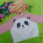 jaket baju hangat sweater bayi newborn perempuan baby girl sweatshirt 6-9bln
