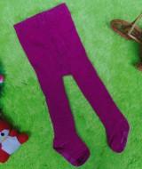 kado bayi celana panjang bayi rajut legging cotton rich lembut baby 6-12bulan anti slip polos ungu