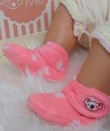 kado sepatu bayi prewalker baby newborn 0-6bulan booties cuddleme motif orange star