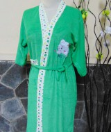 kimono handuk jubah mandi remaja dewasa fit to L beruang hijau 46 lingkar dada 86cm,panjang ke bawah 91cm,cocok dipakai harian maupun saat piknik ke kolam renang,waterpark,atau waterboom