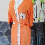 kimono handuk jubah mandi remaja dewasa fit to L beruang orange