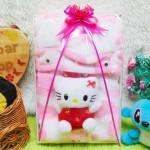 FREE KARTU UCAPAN paket kado lahiran bayi baby gift set box jaket plus boneka motif doreng pink