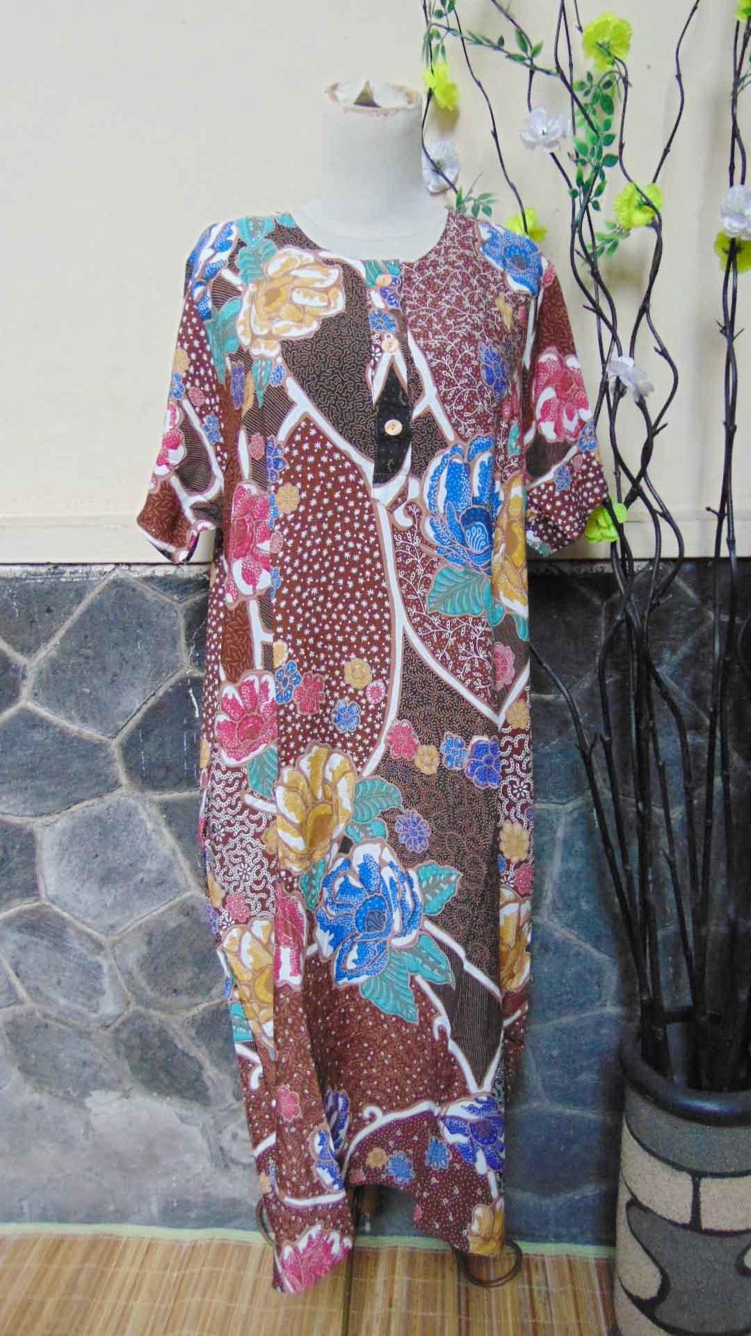 Daster Baladewa Bunga Manis Busui Frindly Kualitas Juara Warna Cokelat