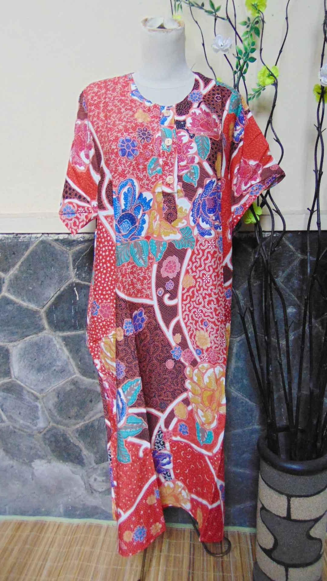 Daster Baladewa Bunga Manis Busui Frindly Kualitas Juara Warna Merah