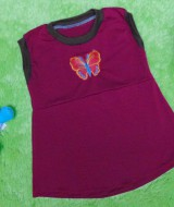 Dress Baju Anak Bayi Cewek Perempuan 0-12bulan Alisa Butterfly Maroon 22 LD 27 P 39 bahan lembut,bikin dedek bayi tambah cantik