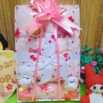 FREE KARTU UCAPAN Kado Lahiran Paket Kado Bayi Baby Gift Box Selimut Carter Plus Baby Sock Pink Elephant 75 terdiri dari selimut carter extra lembut,handuk kecil,kaos kaki boneka baby