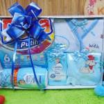 FREE KARTU UCAPAN Kado Lahiran Paket Kado Bayi Newborn Baby Gift Box Detergen plus Setelan Bayi