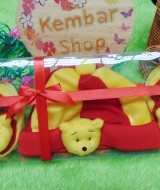 FREE KARTU UCAPAN hadiah lahiran kado bayi baby gift set topi sepatu newborn new born 0-6bulan motif winnie the pooh
