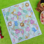 Perlak Gendong Bayi Portable Alas Ompol Baby motif rainbow