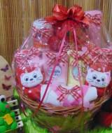 TERLARIS EKSKLUSIF paket kado bayi baby gift parcel bayi parcel kado bayi kado lahiran rotan bulat merah