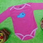 TERLARIS jumper carter ecer lengan panjang bayi cewek perempuan 6 bulan motif ikan pink 25 bahan kaos lembut nyaman adem menyerap keringat bayi