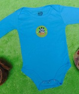 TERLARIS jumper carter ecer lengan panjang bayi cowok laki-laki 9bulan polos biru sapi 25 bahan kaos lembut nyaman adem menyerap keringat bayi