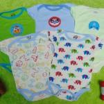 TERLARIS set 5pcs jumper carter lengan pendek bayi cowok laki-laki 3 bulan 100 isi 5pcs,bahan kaos lembut nyaman adem menyerap keringat bayi (2)