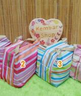 foto utama Lunch Cooler Bag Box Tas Bekal Salur Penyimpan Makanan Anak Tempat Kotak Makan Tahan Panas Motif Salur (1)