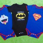 jumper bayi anak cowok laki-laki newborn 0-12bulan karakter doraemon batman superman