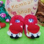 foto utama - kado bayi baby gift set sepatu prewalker alas kaki newborn 0-6bulan lembut motif mario bross (3)