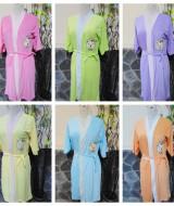 foto utama - kimono handuk jubah mandi remaja dewasa fit to L aneka warna