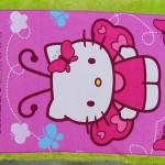 handuk mandi karakter karakter JUMBO SUPER BESAR motif hello kitty butterfly 55 ukuran 140x 71cm; bahan lembut LIMITED EDITION