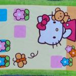 handuk mandi karakter karakter JUMBO SUPER BESAR motif hello kitty kuning 55 ukuran 140x 71cm; bahan lembut LIMITED EDITION