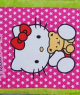 handuk mandi karakter karakter JUMBO SUPER BESAR motif hello kitty star 55 ukuran 140x 71cm; bahan lembut LIMITED EDITION