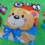 kado bayi baby new born gift hadiah lahiran selimut topi bulu tebal hangat lembut motif beruang orange (1)