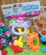 kado bayi murah set 3in1 mainan bayi rattle icik-icik krincingan bisa bunyi komplit (1)