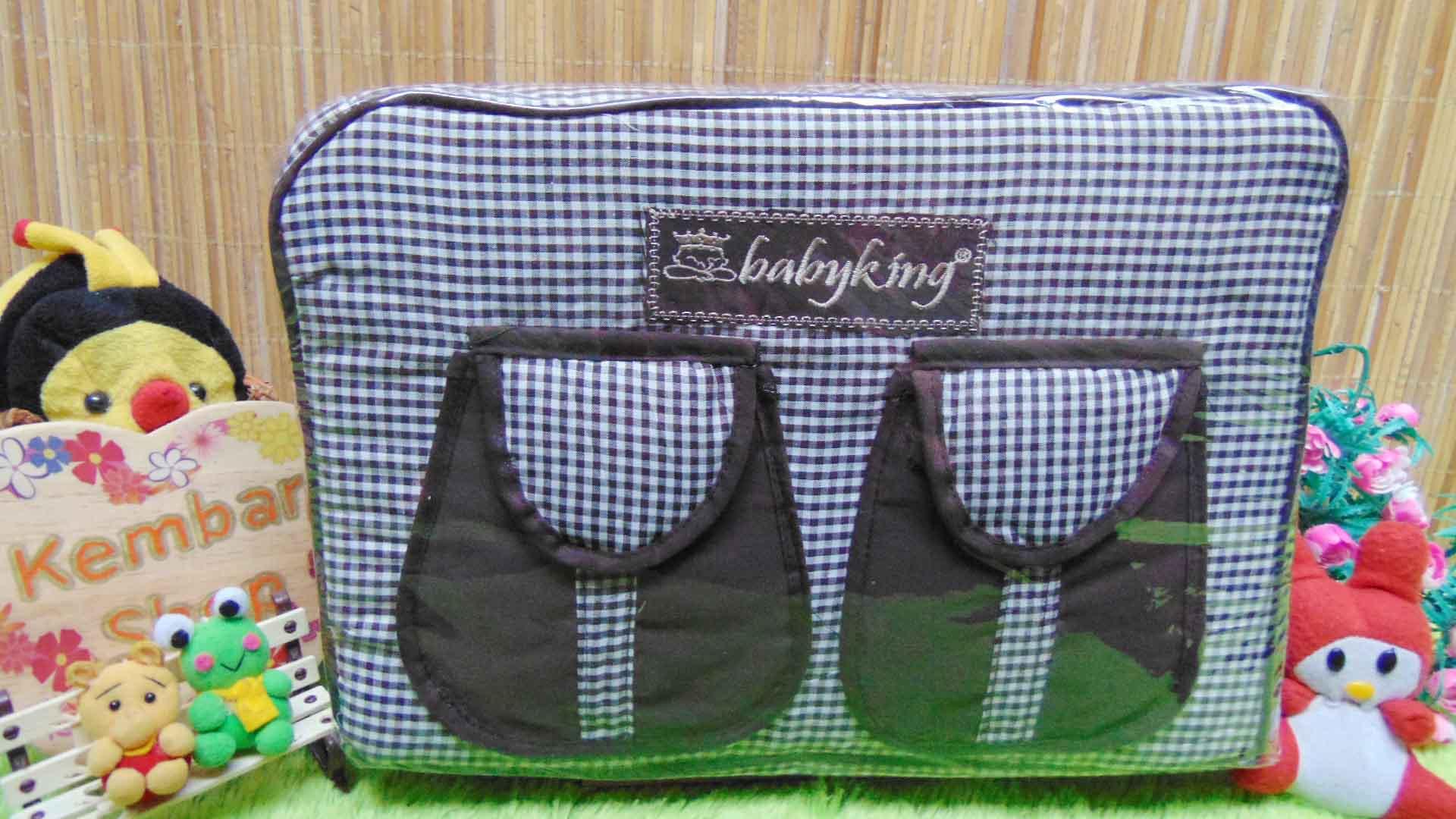 kado bayi tas perlengkapan bayi diapers bag baby king square chocolate