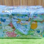 kado bayi tas perlengkapan bayi motif kuda nil biru dengan tempat botol susu tahan panas dingin