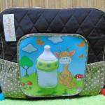kado bayi tas perlengkapan bayi super besar motif botol susu 3D cokelat