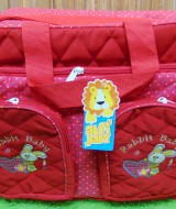 kado lahiran bayi baby gift tas perlengkapan bayi jumbo polka besar merah