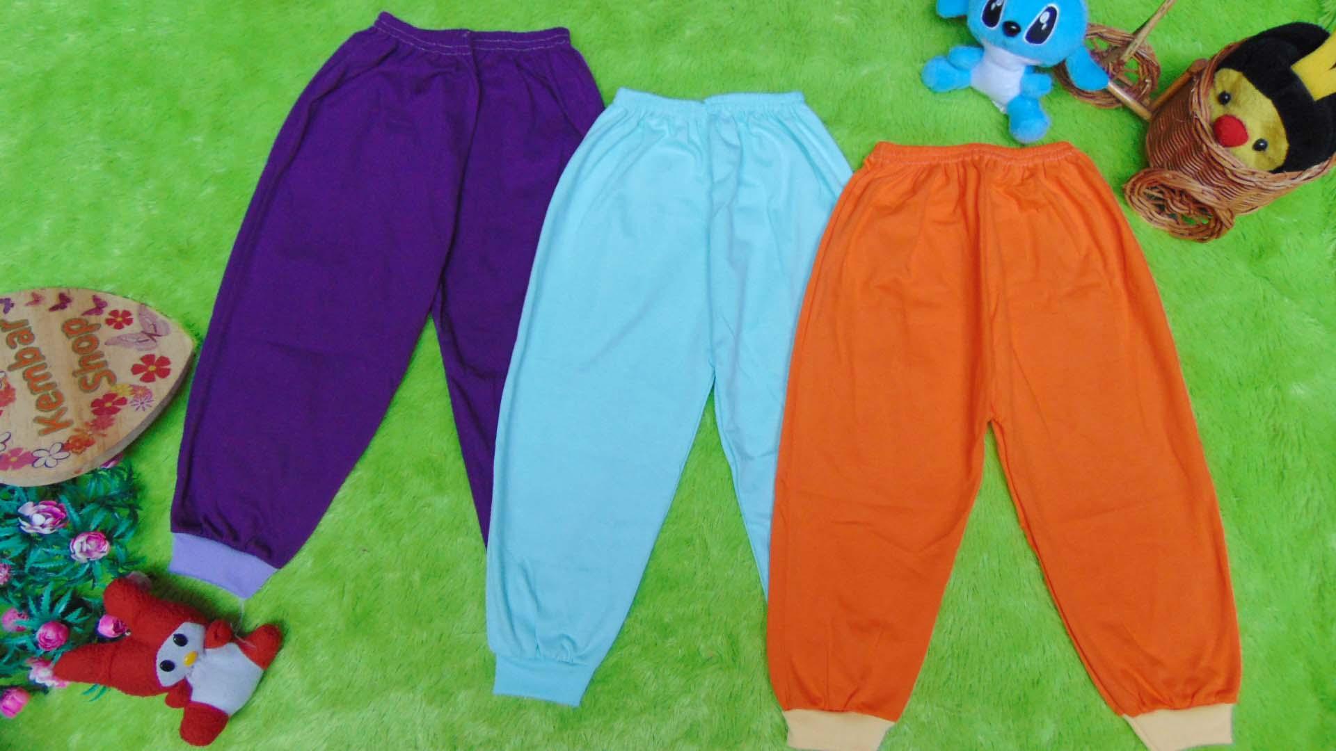 paket hemat set 3pcs celana panjang anak balita 2-5tahun all size RAINBOW warna random (1)