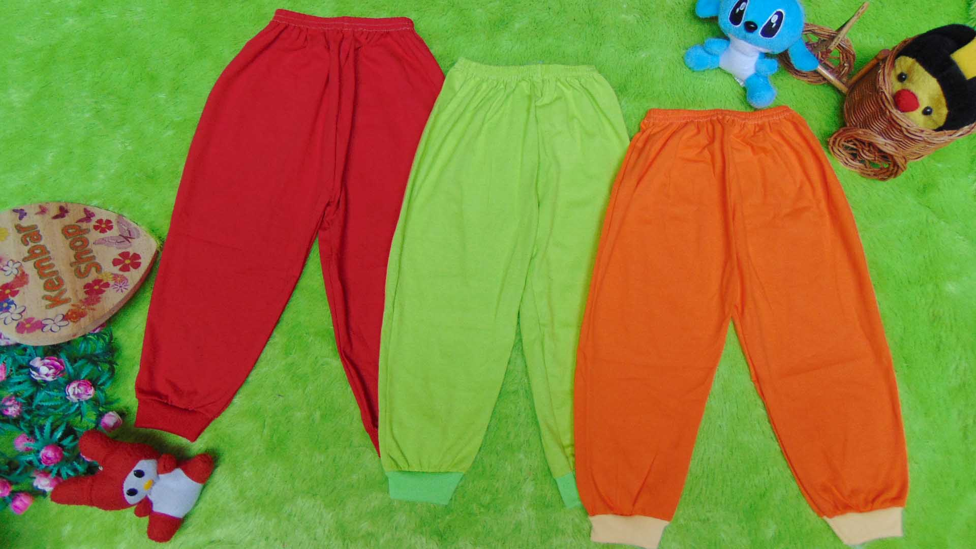 paket hemat set 3pcs celana panjang anak balita 2-5tahun all size RAINBOW warna random (2)
