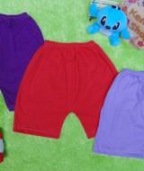 paket hemat set 3pcs celana pendek anak bayi batita all size 1-3th RAINBOW warna random (5)