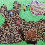 setelan baju batik balon bayi newborn 0-12bulan motif kawung