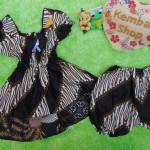 setelan baju batik balon bayi newborn 0-12bulan motif parang capuccino