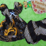 setelan baju batik balon bayi newborn 0-12bulan motif parang capuccino kombi