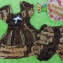 setelan baju batik balon bayi newborn 0-12bulan motif parang cokelat