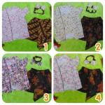 utama Setelan Baju Batik Kebaya Kutu Baru Bayi 0-15bulan Plus Headband Motif Bunga (6)