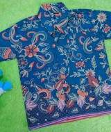 Baju batik bayi anak laki-laki kemeja batik batita hem anak cowok 2-4th baju pesta motif vas ijo