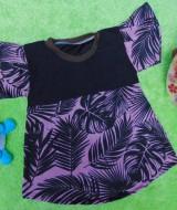 Dress Baju Anak Bayi Cewek Perempuan 0-12bulan Alisa Nyiur Black Nude 22 LD 29 P 42 bahan lembut,bikin dedek bayi tambah cantik