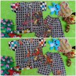Setelan Baju Tidur Piyama Batik Bayi size S 0-12bln motif Ceplok Kembang RANDOM