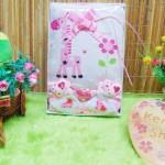 FREE KARTU UCAPAN Kado Lahiran Paket Kado Bayi Baby Gift Box Selimut Carter Plus Baby Sock GIRL