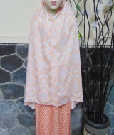 Foto Utama FREE Pouch Tas Mukena Anak 5-7thn Motif Bunga Orange