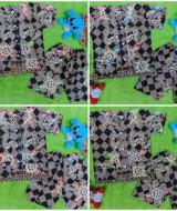 Foto Utama Setelan Baju Tidur Piyama Batik Bayi size S 0-12bln motif Geometri Sulur RANDOM