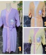 Foto utama kimono handuk jubah mandi remaja dewasa fit to L Hello Kitty aneka warna
