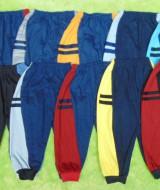 PAKET USAHA Selusin 12pcs celana panjang anak 2-4th double stripe2 harga 79.000,Panjang celana 54cm, bahan kaos katun adem lembut,nyaman untuk harian,