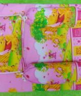 PALING MURAH kado bayi set kasur bayi karakter Winnie The Pooh plus bantal dan guling Pink