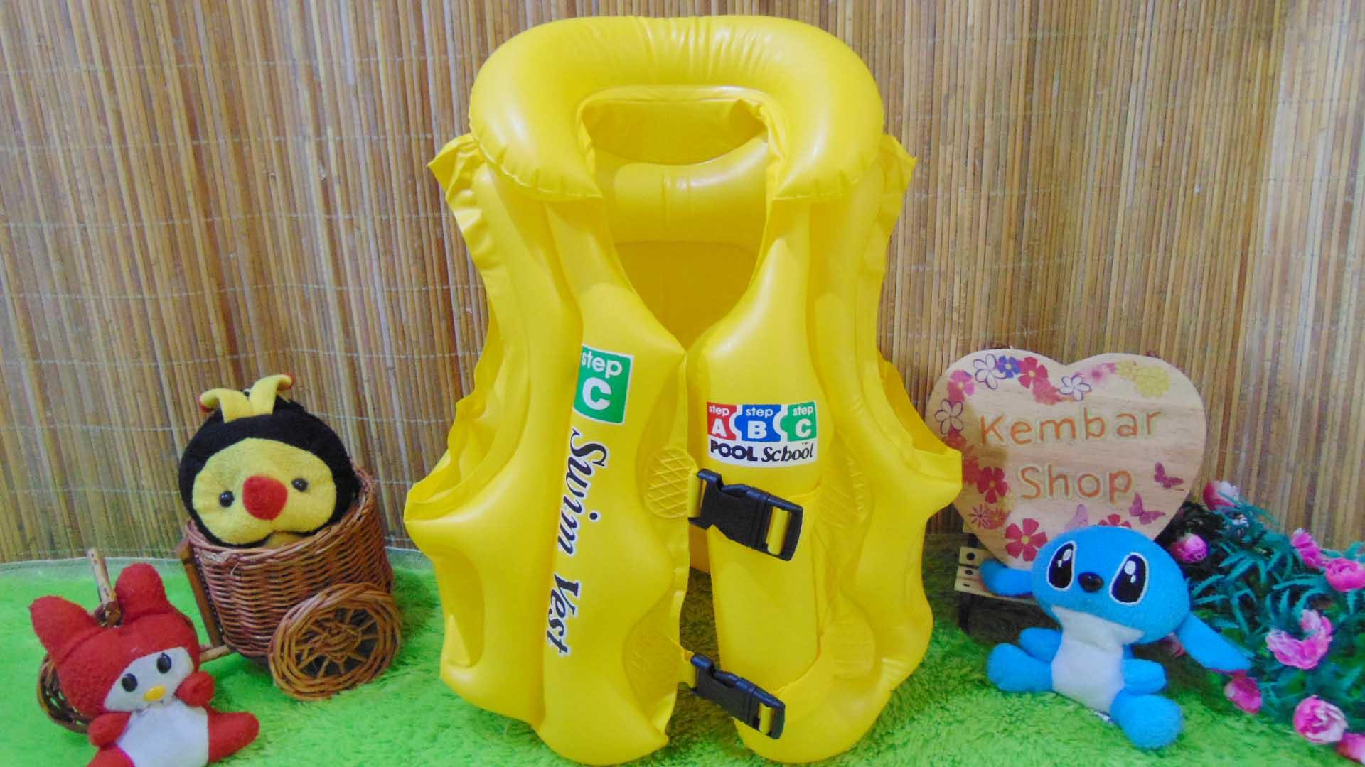 Pelampung rompi renang anak swimvest size C Murah Kuning