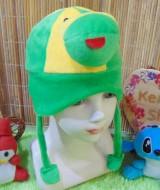 Topi bayi baby hat karakter kodok keroppi lucu 25, muat 0-2thn cocok untuk penggemar keroppi